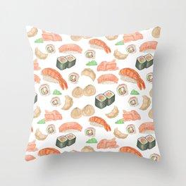 Sushi Time Throw Pillow