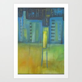 City Blue Art Print