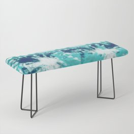 Shibori Beach Aqua Bench