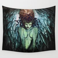medusa Wall Tapestries featuring Medusa  by CLE.ArT.