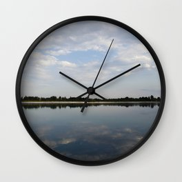 Reflections on the river Wall Clock