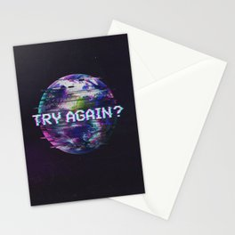 Humanity Glitch Stationery Cards