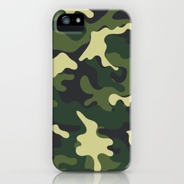 Army Green Camouflage Camo Pattern iPhone Case