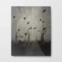 Gothic Crows Eerie Ceremony Metal Print