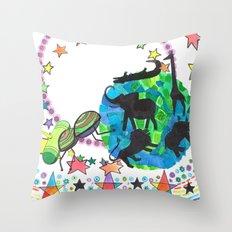 Earth Beetle Throw Pillow