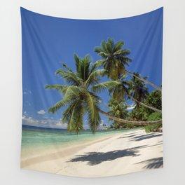 Palm beach, the Seychelles, La Digue island, Wall Tapestry