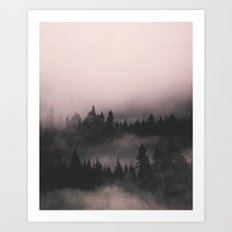 When the fog comes in Art Print