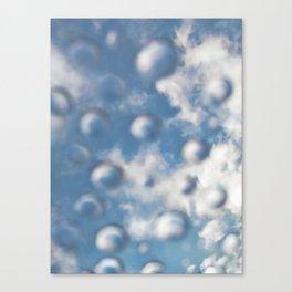 Sky Bubbles #abstract #art #society6 #decor Canvas Print