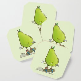 The Pear Skater Coaster