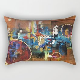 Abstract color gold lady landscape inspirational  Rectangular Pillow
