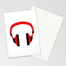 Pair Of Headphones Stationery Cards