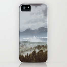 Misty mountains - Landscape and Nature Photography iPhone Case