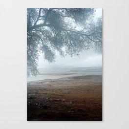 Empty Folsom Lake Bed - Rainbow Sediment Canvas Print