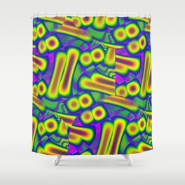 Dichroic Psychedelic Fused Glass Shower Curtain