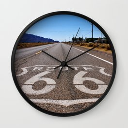 Historic Route 66 Wall Clock
