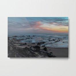 Beutiful sunset with rocks Metal Print