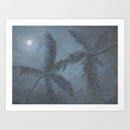 Moon Palm Art Print