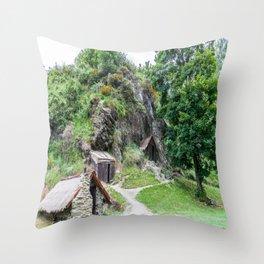 Arrowtown Chinese Settlement, New Zealand Throw Pillow