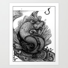 Fishkey Art Print
