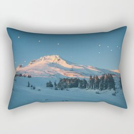 Mt. Hood Sunset Rectangular Pillow