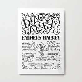 Diagon Alley Farmers' Market Metal Print