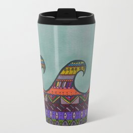 Mandala Waves Travel Mug