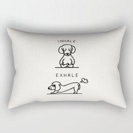 Inhale Exhale Dachshund Rectangular Pillow