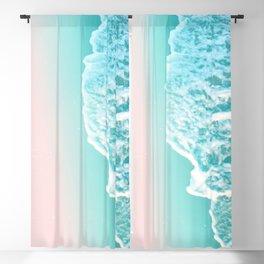 Turquoise Blush Ocean Dream #1 #water #decor #art #society6 Blackout Curtain
