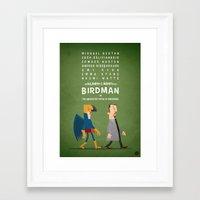 birdman Framed Art Prints featuring Birdman by Diego Riselli