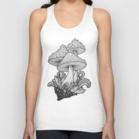 mushrooms Tank Tops featuring Mushrooms by Sushibird