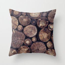 The Wood Holds Many Spirits // You Can Ask Them Now Edit Throw Pillow