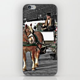Horse and Carriage Photography iPhone Skin