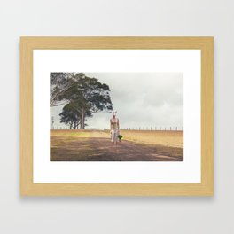 Jumping High Framed Art Print