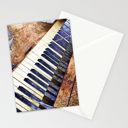 Piano keys art Stationery Cards