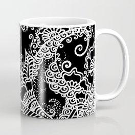 Zen Tree Rebirth Black Left Half Coffee Mug