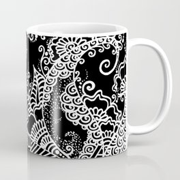 Zen Tree Rebirth Black Left Half Coffee Mug