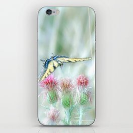 """Swallowtail & Thistles"" by Murray Bolesta iPhone Skin"