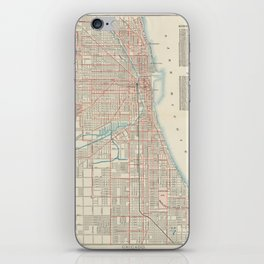 Vintage Chicago Railroad Map (1893) iPhone Skin
