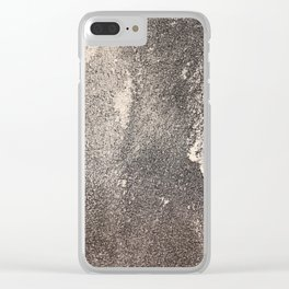 Sandpaper Attrition Rubbing Texture Clear iPhone Case