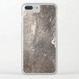 Sandpaper Attrition Rubbing Texture Clear iPhone Case