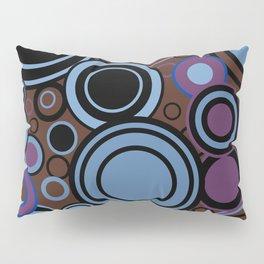 Retro Circle Background Pillow Sham