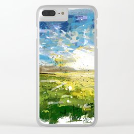 Sunset abstract Clear iPhone Case