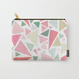 Watercolor Triangles 2 - Green - Pink - Orange Carry-All Pouch