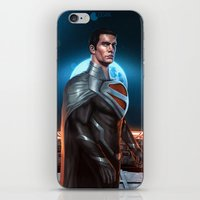 justice league iPhone & iPod Skins featuring Superman - Justice Lord by Charles Logan