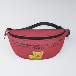ITS DANGEROUS TO GO ALONE Take This Cat Fanny Pack