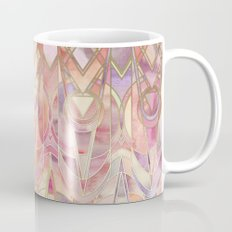 Glowing Coral and Amethyst Art Deco Pattern Coffee Mug