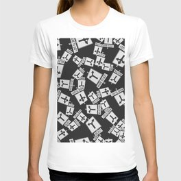 pattern with traffic signs road selection T-shirt