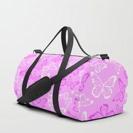 Pretty Pink Butterfly Pattern Duffle Bag