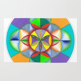 Wheel - The Sacred Geometry Collection Rug
