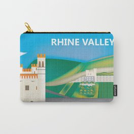 Rhine Valley, Germany - Skyline Illustration by Loose Petals Carry-All Pouch